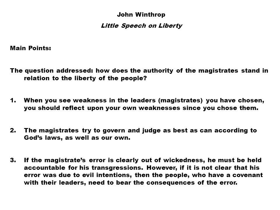 Little Speech on Liberty
