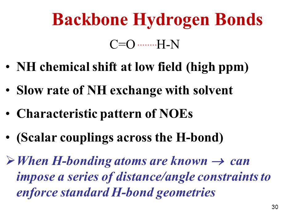 Backbone Hydrogen Bonds