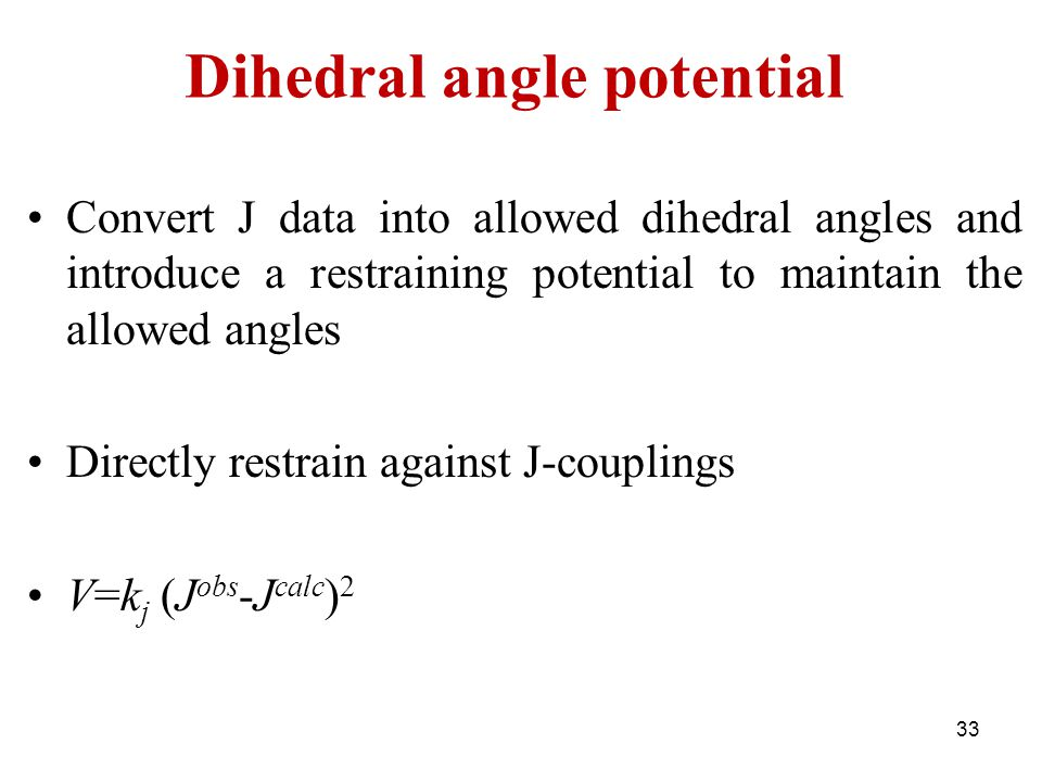 Dihedral angle potential