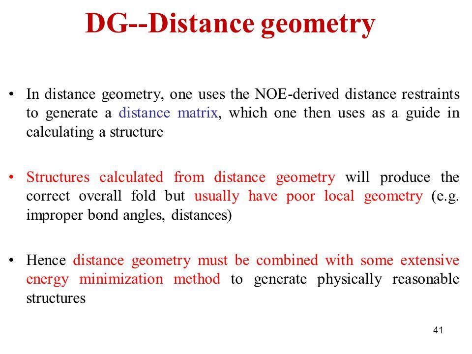 DG--Distance geometry