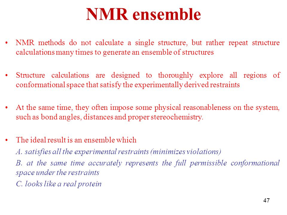 NMR ensemble