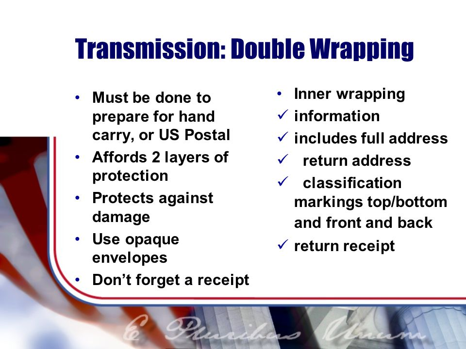 Transmission: Double Wrapping