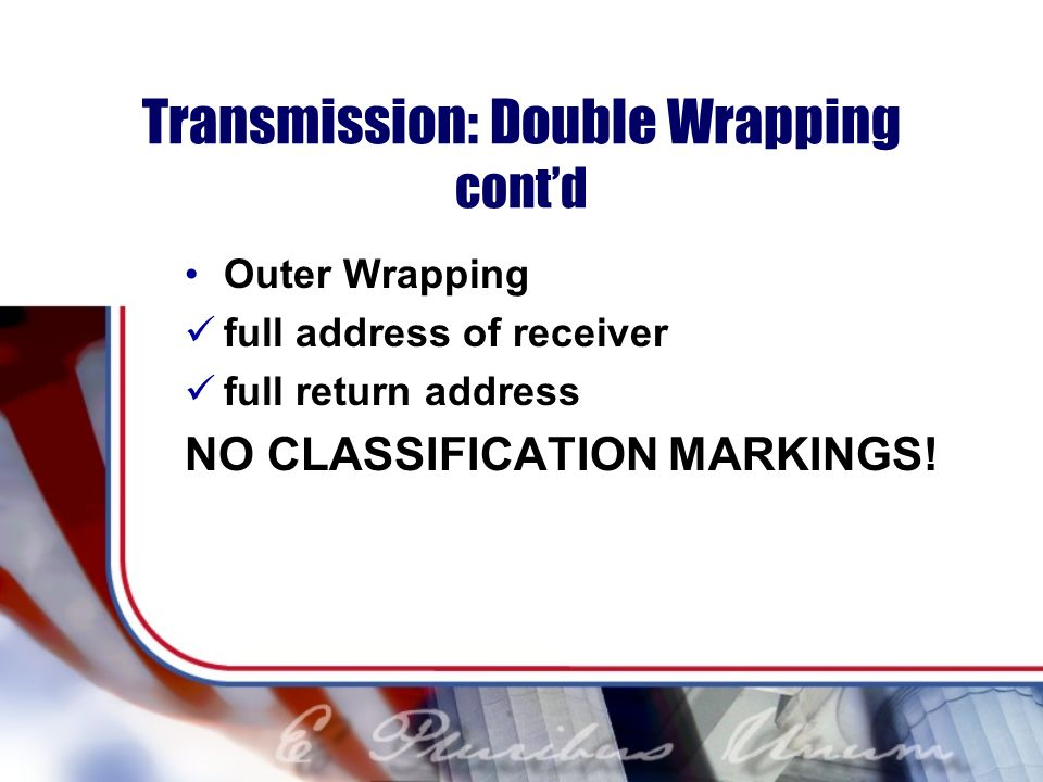 Transmission: Double Wrapping cont'd