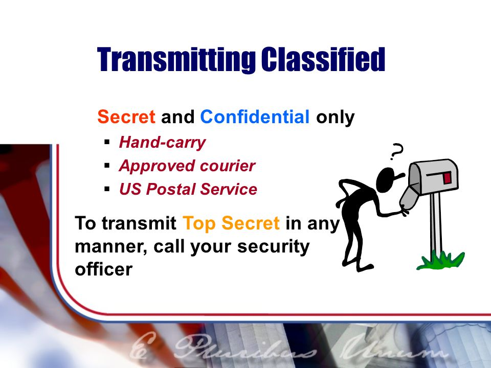 Transmitting Classified