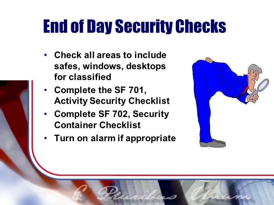 End of Day Security Checks
