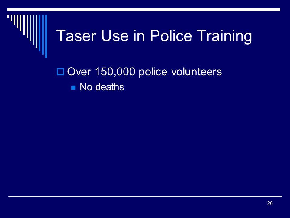 Taser Use in Police Training