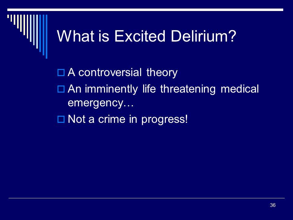 What is Excited Delirium