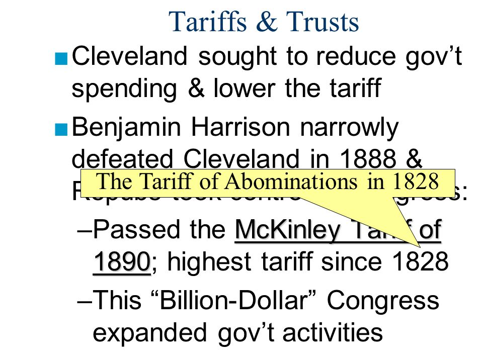 The Tariff of Abominations in 1828