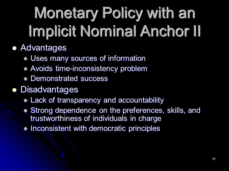 Monetary Policy with an Implicit Nominal Anchor II