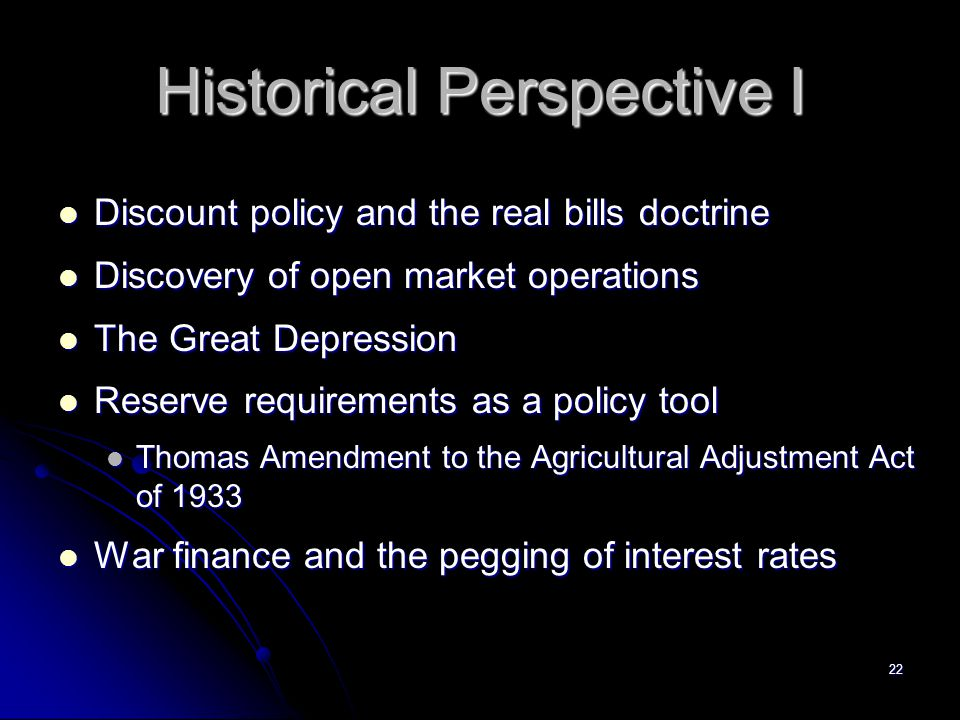 Historical Perspective I