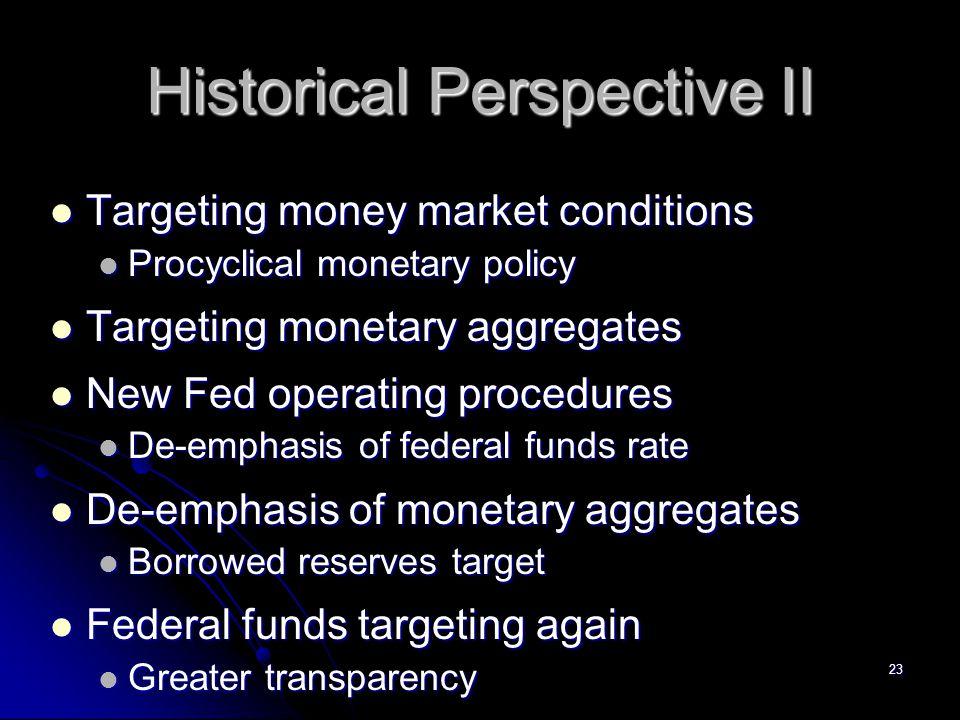 Historical Perspective II
