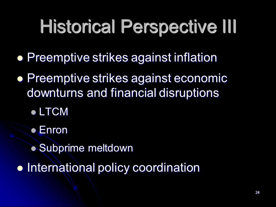 Historical Perspective III