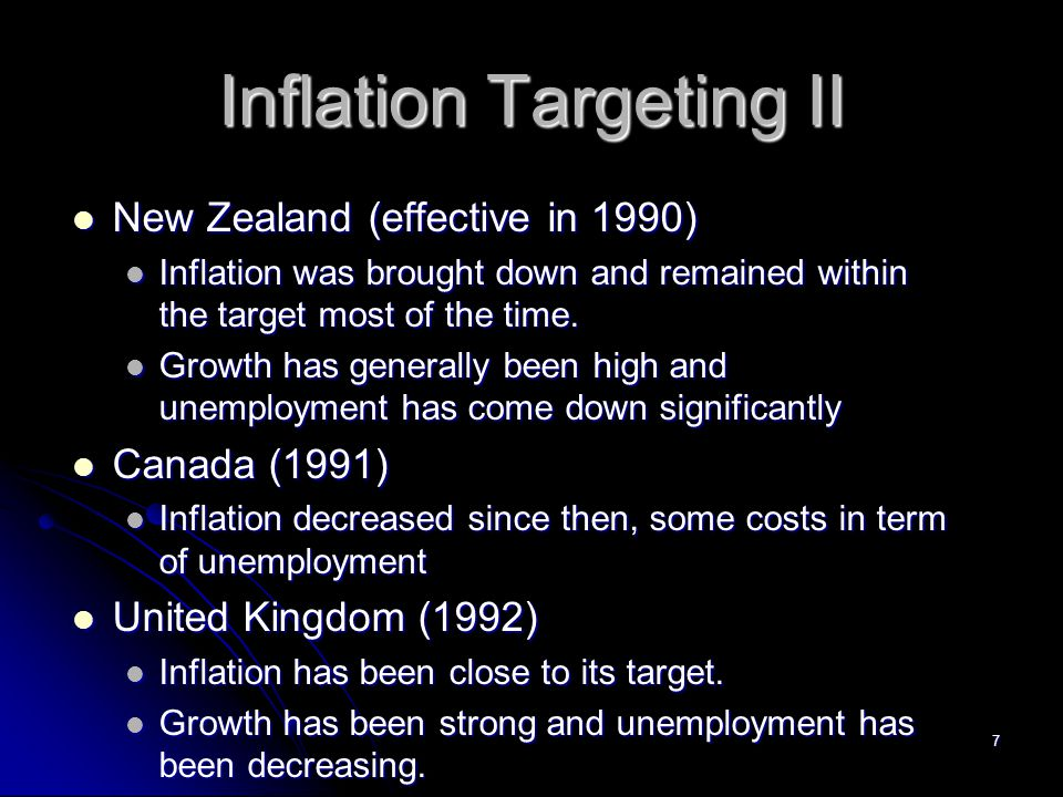 Inflation Targeting II
