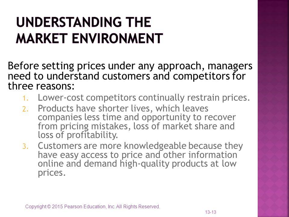 Understanding the Market Environment