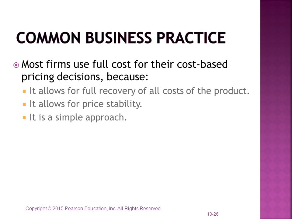 Common Business Practice