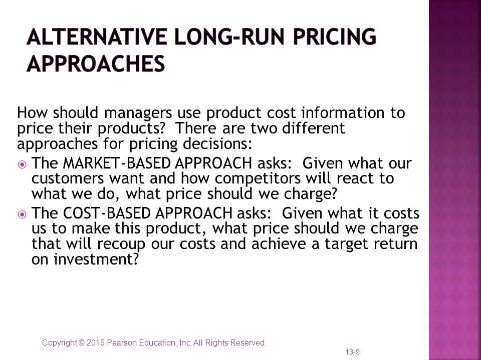 Alternative Long-Run Pricing Approaches