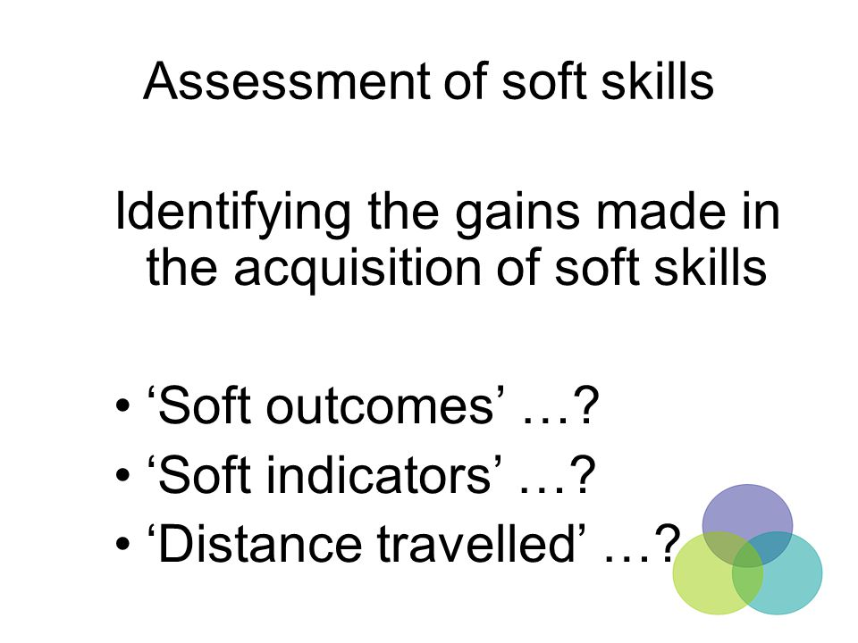 Assessment of soft skills