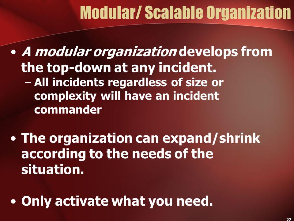 Modular/ Scalable Organization