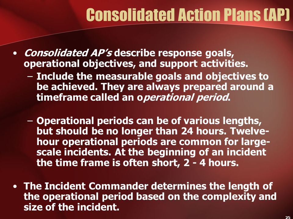 Consolidated Action Plans (AP)