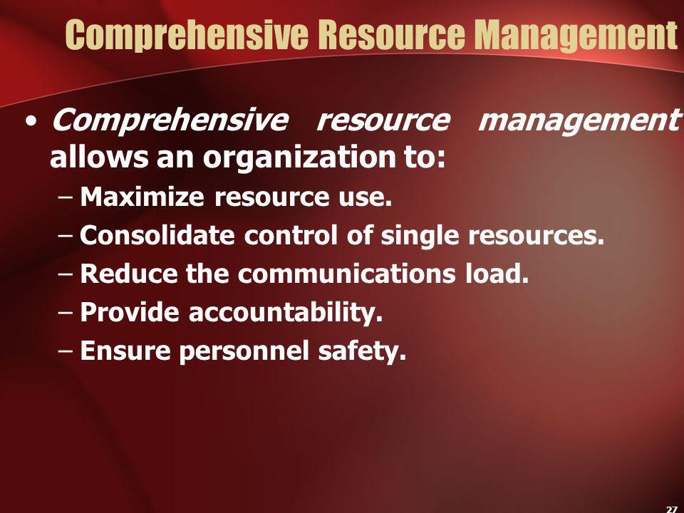 Comprehensive Resource Management