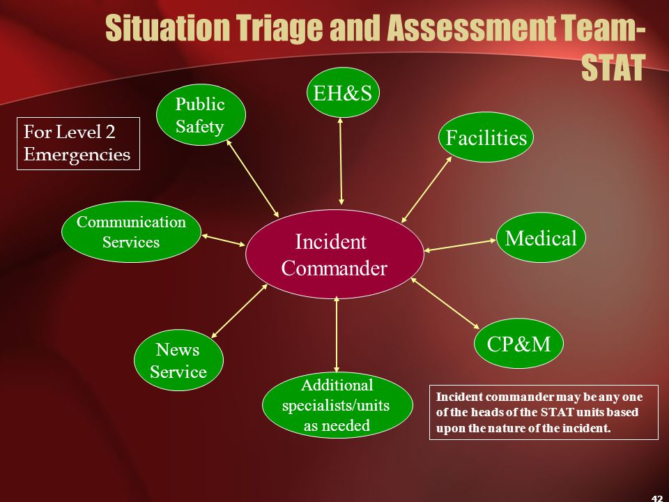 Situation Triage and Assessment Team-STAT