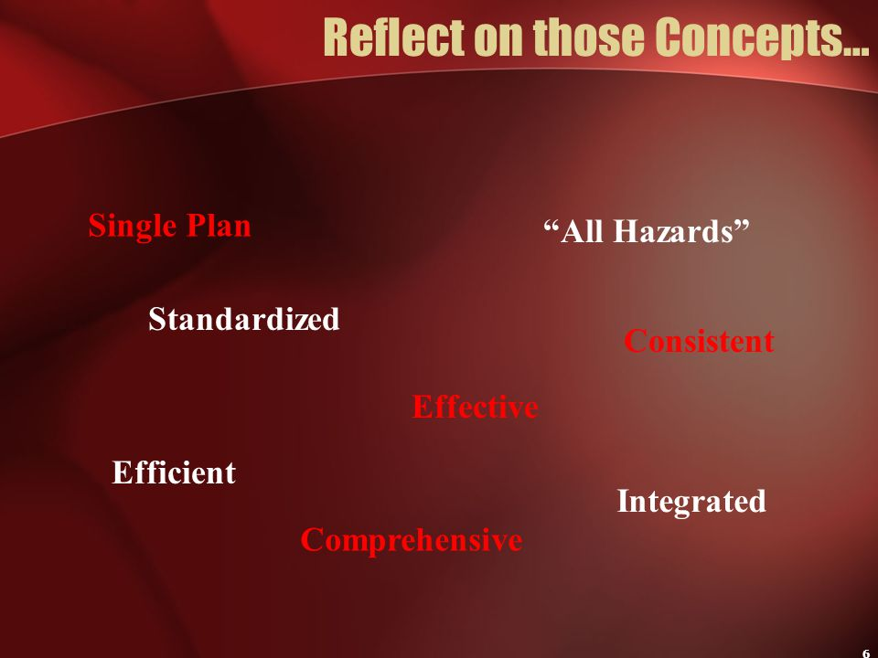 Reflect on those Concepts…