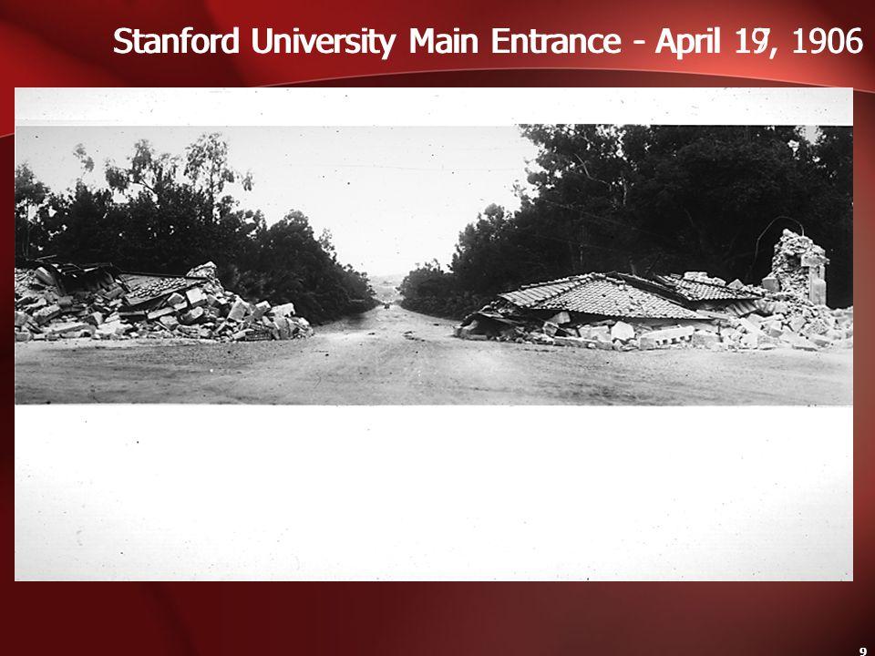 Stanford University Main Entrance - April 19, 1906