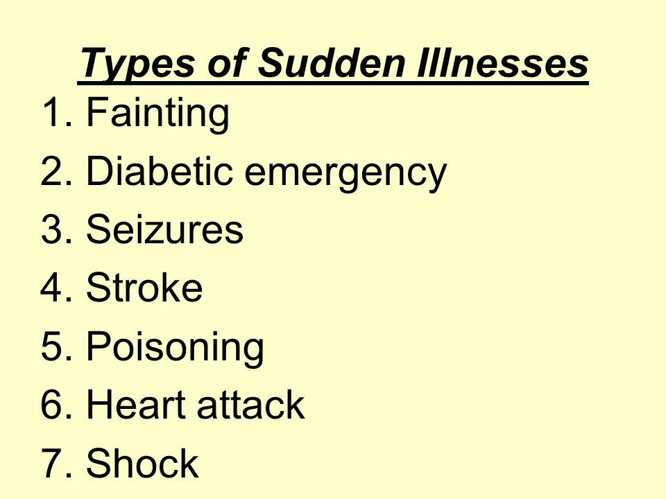 Types of Sudden Illnesses