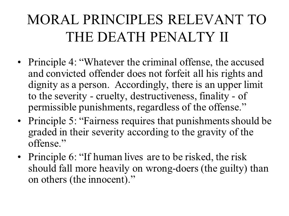 Death Penalty: Is Capital Punishment Morally Justified?