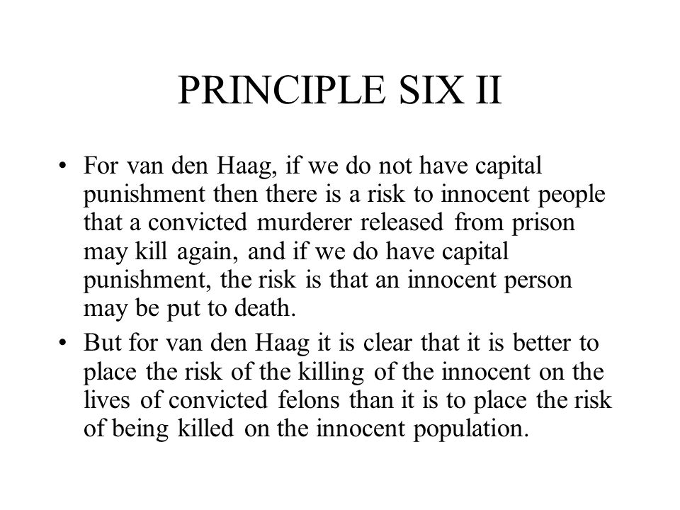 PRINCIPLE SIX II