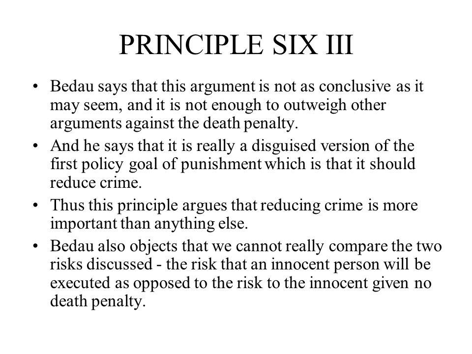 PRINCIPLE SIX III