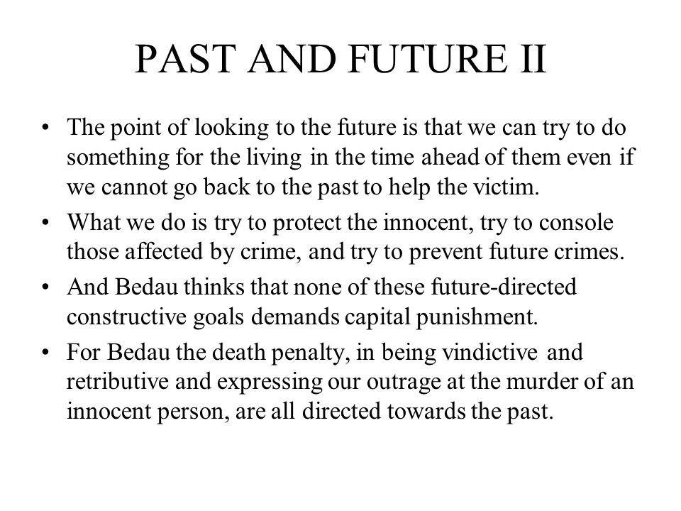 PAST AND FUTURE II