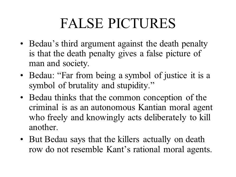 Arguments About Death Penalty Essay