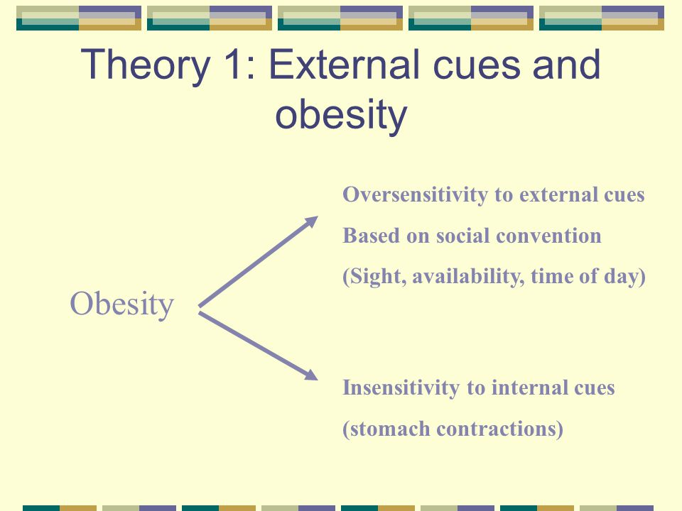 Theory 1: External cues and obesity