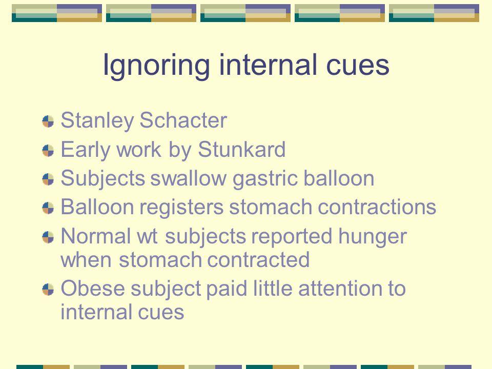 Ignoring internal cues