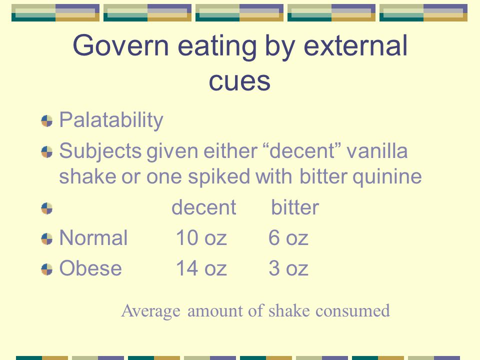 Govern eating by external cues