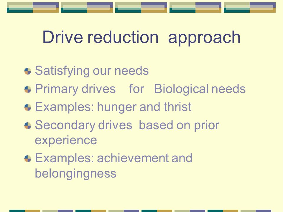 Drive reduction approach