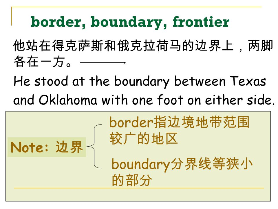 border, boundary, frontier