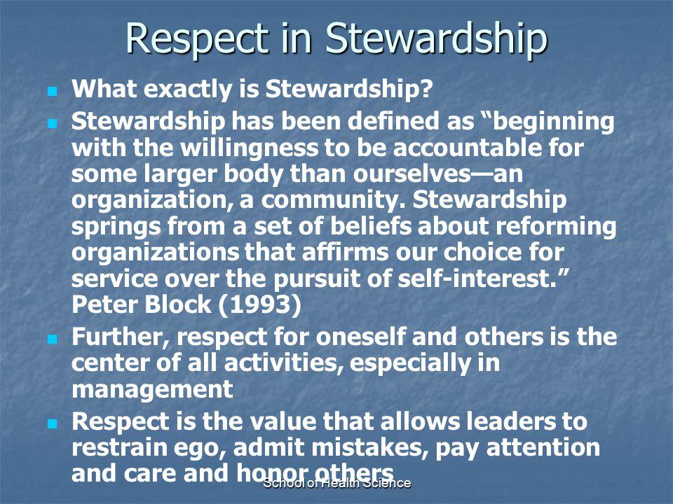 Respect in Stewardship