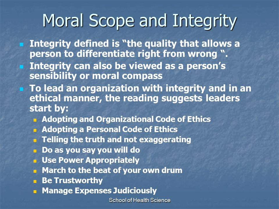 Moral Scope and Integrity