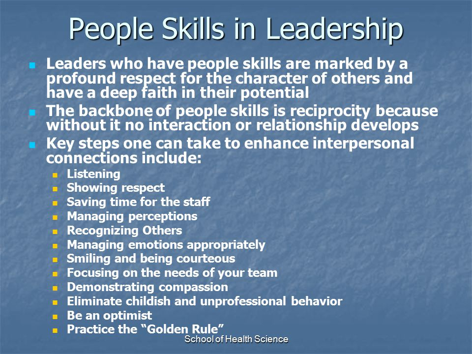 People Skills in Leadership