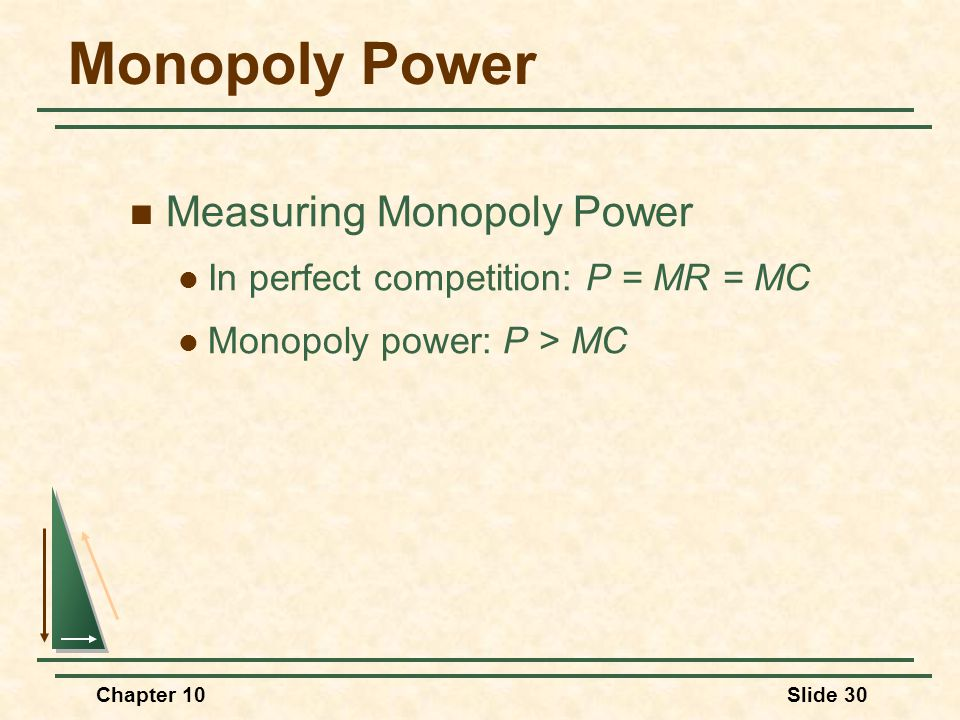 Monopoly Power Measuring Monopoly Power