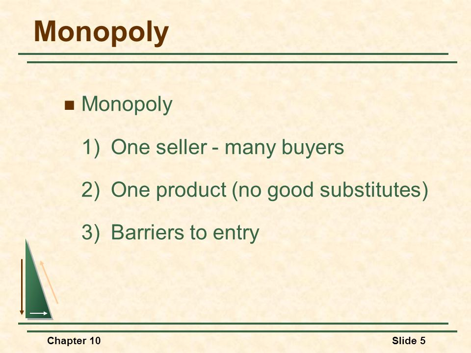 Monopoly Monopoly 1) One seller - many buyers