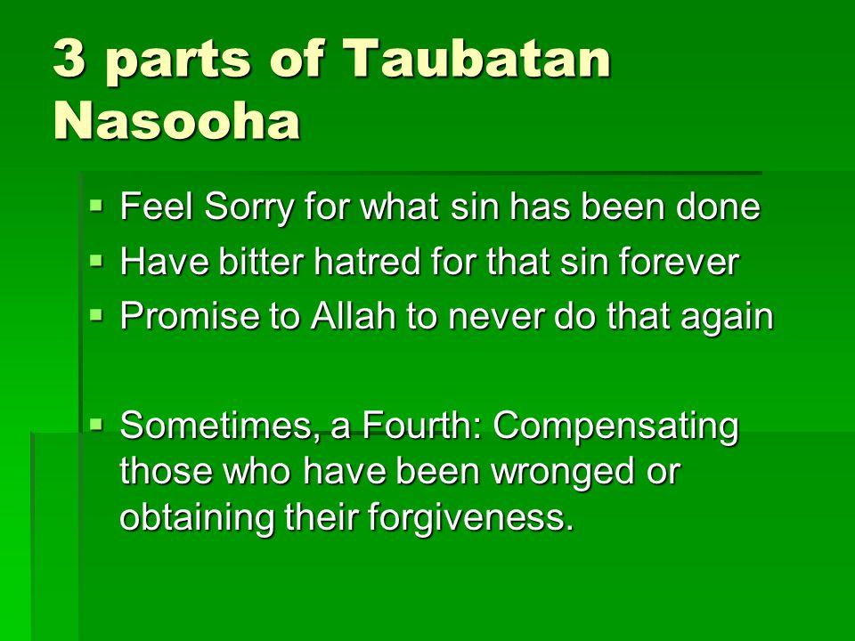 3 parts of Taubatan Nasooha
