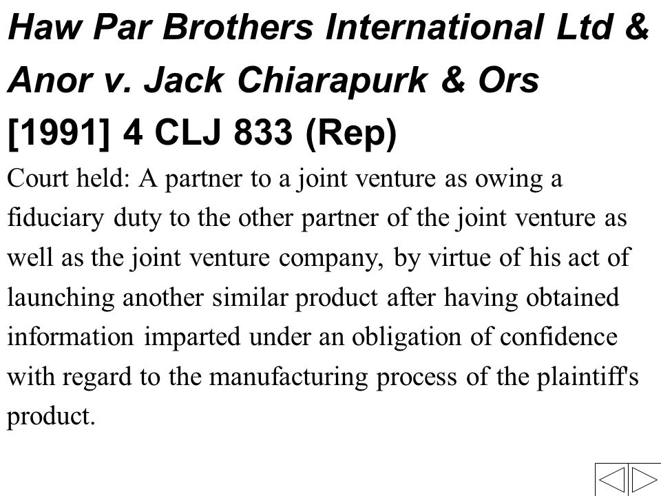 Haw Par Brothers International Ltd & Anor v. Jack Chiarapurk & Ors