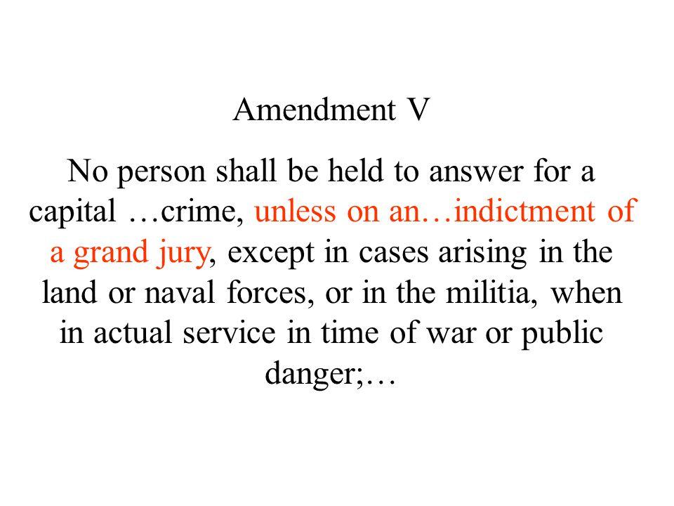 Amendment V