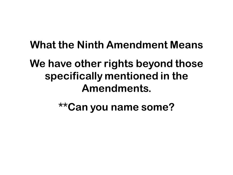 What the Ninth Amendment Means