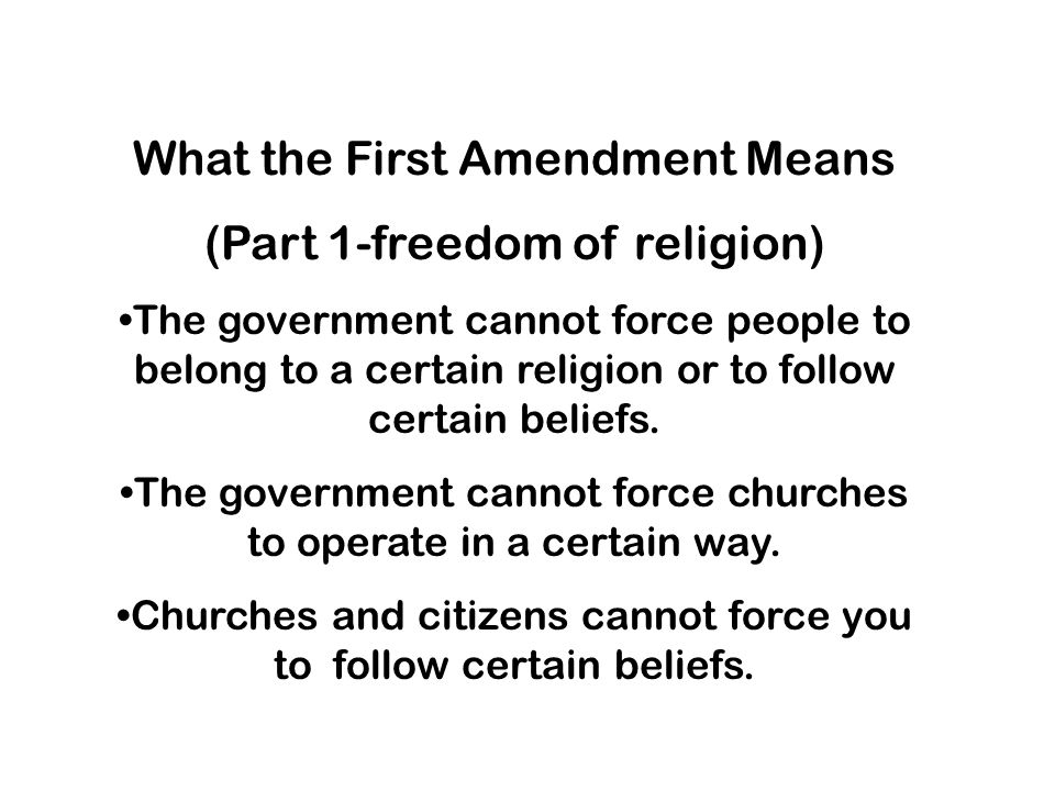What the First Amendment Means (Part 1-freedom of religion)