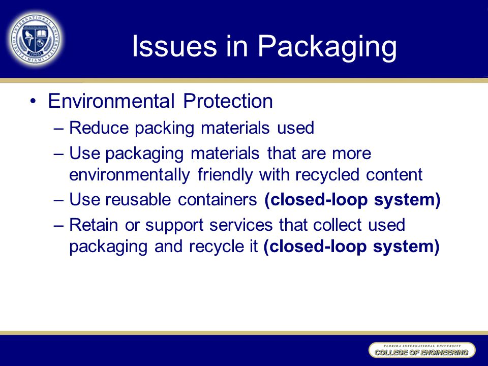 Issues in Packaging Environmental Protection