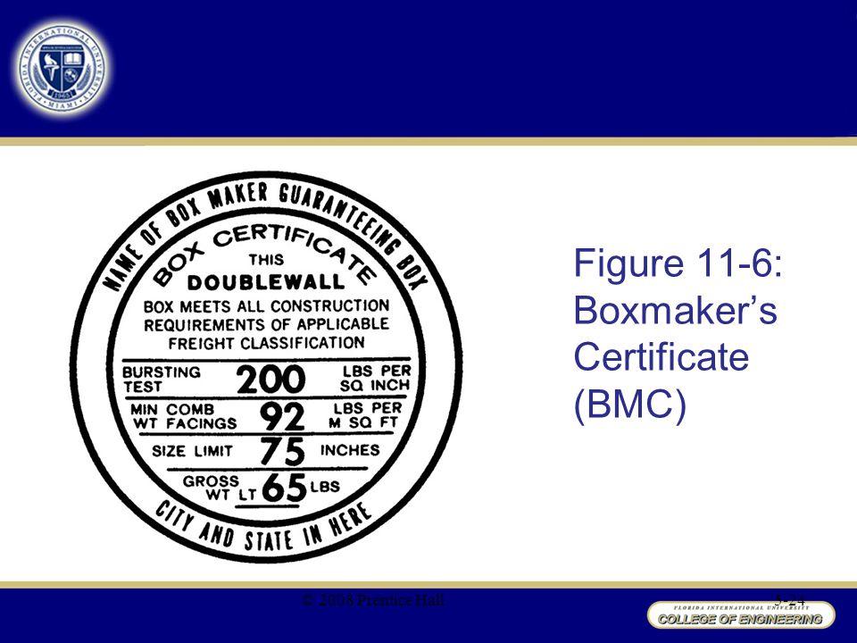 Figure 11-6: Boxmaker's Certificate (BMC)